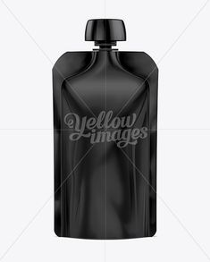 Doy-Pack With Top Cap Spout 02 Black Mockup
