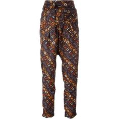 Isabel Marant 'Toma' tapered trousers ($520) ❤ liked on Polyvore featuring pants, black, tapered pants, silk pants, high rise pants, drapey pants and highwaist pants