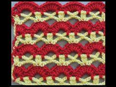 Crochet : Punto Combinado # 5,  en dos colores