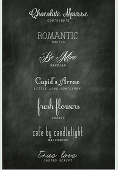 Here are some great chalkboard fonts.