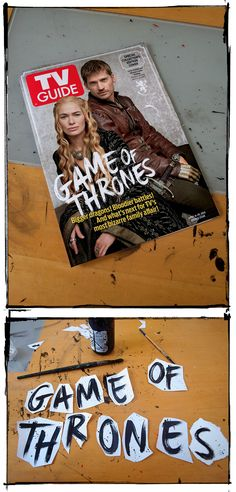 Collector's edition, Game of Thrones special front cover. Hand pained lettering design for TV Guide's doube-issue. Hand Craft Work, Big Dragon, Family Affair, Tv Guide, Lettering Design, Editorial Design, The Collector, Game Of Thrones, Typography