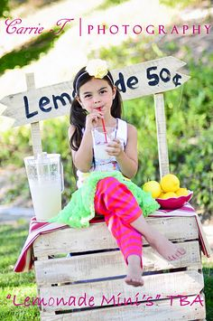 "Adorable idea for a photo shoot...lemonade stand.  Wonder if the hubs would make me one?  Surely there's a ""pin"" somewhere how to build?:)"