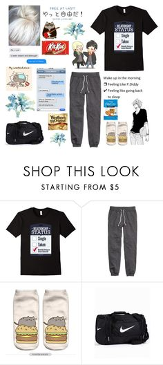 """""""Sorry this outfit is crap"""" by potato-swan77 ❤ liked on Polyvore featuring H&M, Pusheen and NIKE"""