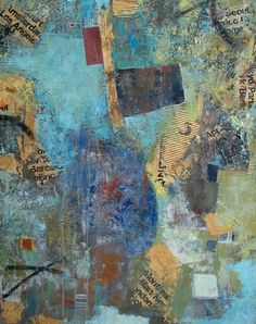 If walls could talk, Mixed Media on canvas, 36x40 by Tania Iraheta