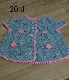 Örgü Kız Bebek Yeleği ,  #satılıkörgüyelek ,