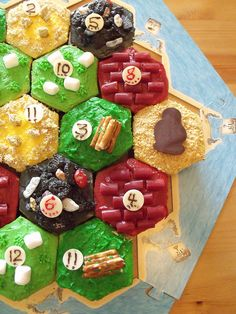 Settlers of Catan Cupcakes by C&C Cakery. - would be super fun for a games night or birthday party!