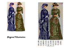 """Victorian ladies in gossiping"" An adaptation work by using pattern wizard."