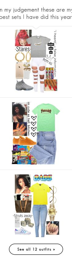"""""""In my judgement these are my best sets I have did this year."""" by bbygrlkalanyia on Polyvore featuring Amina, NIKE, AG Adriano Goldschmied, Essie, adidas, Ralph Lauren, Ross-Simons, Anya Hindmarch, Rolex and Retrò"""