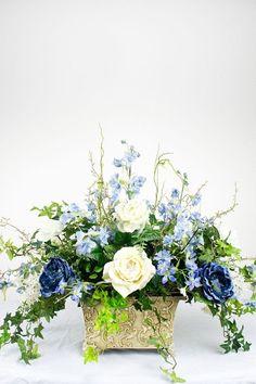 Spring Flower Arrangements, Artificial Floral Arrangements, Silk Floral Arrangements, Beautiful Flower Arrangements, Artificial Flowers, Beautiful Flowers, Silk Flower Centerpieces, Wedding Centerpieces, Wedding Table