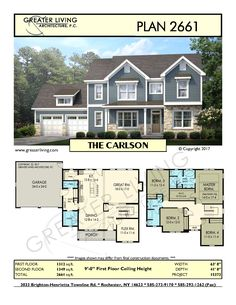 Plan THE CARLSON – Two Story House – Greater Living Architecture – Residential Architecture Source by annasagecox Sims House Plans, Two Story House Plans, Two Story Homes, Dream House Plans, House Floor Plans, The Plan, How To Plan, Architecture Plan, Residential Architecture