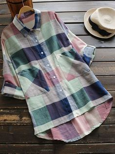 Cupshe Dwell on Dreams Plaid Shirt How To Have Style, Style Me, Spring Summer Fashion, Autumn Fashion, How To Roll Sleeves, Visual Kei, What To Wear, Cool Outfits, Plaid