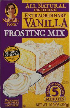 Naturally Nora Extraordinary Vanilla Frosting Mix Vanilla  #vitacostfoodie