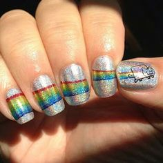 Awesome super creative Nyan Cat Nails!