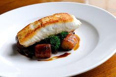 Award-winning chef, Dominic Chapman, serves pan-fried halibut with earthy wild mushrooms, gnocchi and a lemon butter sauce in this classic halibut recipe