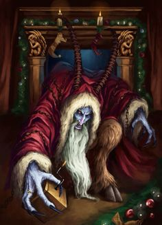 """""""Krampus Is Coming To Town"""" by JaviRGraphics Arte Horror, Horror Art, Horror Movies, Cool Monsters, Classic Monsters, Krampus Movie, St Claus, Dibujos Dark, Wolf"""