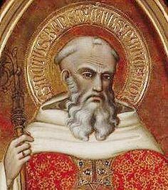 Spinello Aretino - San Benedetto, dettaglio - 1383-1384 - Tempera su tavola…