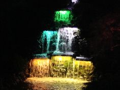 Waterfall at the Festival of Lights #NewZealand