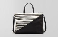 Infinite Satchel - Optic Sharktooth #crossbody #handbag #calfhair #pony #graphic #macbook #laptop