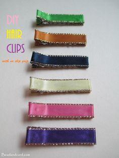 DIY Easy Ribbon Hair Clips - No Slip Hair Clips