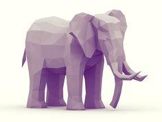 Dribbble - Elephant by Timothy J. Reynolds