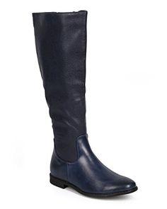 [AMAZON] DbDk DA10 Women Leatherette Paisley Knee High Zip Riding Boot - Navy -  with FREE SHIPING WORLDWIDE!