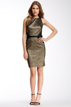 Nicole Miller Cassie Gold Lacquered Dress by Assorted on @HauteLook