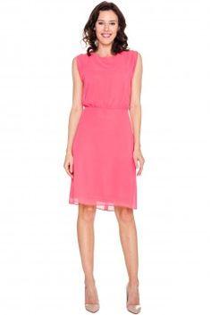 a1f27a771e Różowa sukienka ze zwiewnego szyfonu - Vito Vergelis