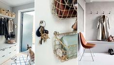Så får du enkelt ordning i hallen   ELLE Wardrobe Rack, Diy Home Decor, Wall Lights, Mirror, Furniture, Entryway, Pictures, Cloakroom Basin, Appliques