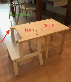 Good Pics Learning tower and childrens table in one - an Ikea hack Ideas An Ikea kids' room remains to intrigue the little ones, since they are provided much more than ju Diy Hacks, Learning Tower Ikea, Ideas Dormitorios, Ikea Kids Room, Maila, Ikea Bedroom, Baby Learning, Kid Table, Diy For Kids