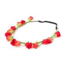 Mini Roses Garland 3 in 1 Bun Wrap
