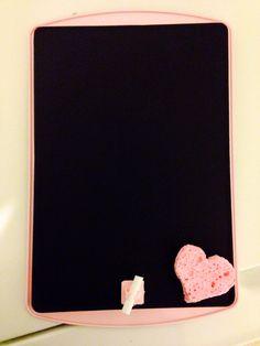 Take a pan and make it a chalkboard.