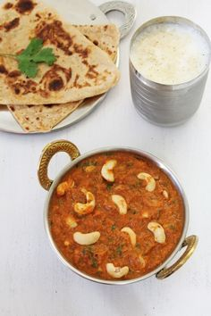 Cashew Curry recipe, cashews are simmered in creamy onion-tomato gravy. This is Restaurant style Kaju Curry Recipe with step by step photos. Cashew Recipes, Paneer Recipes, Veg Recipes, Indian Food Recipes, Asian Recipes, Vegetarian Recipes, Cooking Recipes, Indian Foods, Gulab Jamun