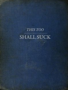 A book for a practicing pessimist...