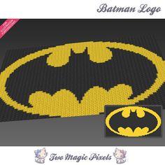 Batman Logo c2c graph crochet pattern instant by TwoMagicPixels