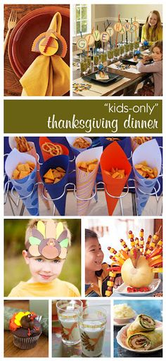 Bella Grace Party Designs: The Party Dress: Kids Only Thanksgiving Dinner