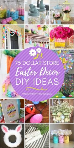 Welcome the spring season and brighten up your home for less with these dollar store Easter decorations. There are so many Easter DIY ideas to choose from including Easter wreaths, Easter centerpieces Mason Jar Diy, Mason Jar Crafts, Easter Crafts, Holiday Crafts, Bunny Crafts, Easter Ideas, Easter Projects, Holiday Ideas, Holiday Decor