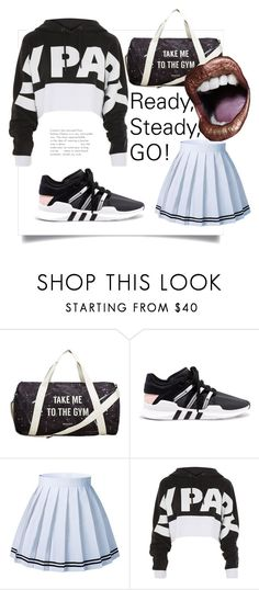 """Black Friday?  Who's faster? #ivypark #adidas #fashion #game #anikle #style #gym #fitgirl #iwantmore #power #strong"" by andzelika-niklewicz on Polyvore featuring MANGO, adidas Originals and Topshop"