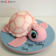 Write name on Cute Turtle Birthday Name Wish Cake with Name And Wishes Images and create free Online And Wishes Images with name online. Best Picture For birthday cake videos For Your Taste You are lo Birthday Name, Turtle Birthday, Animal Birthday Cakes, Cute Birthday Cakes, Teen Birthday, Sister Birthday, Baby Cakes, Fondant Cakes, Cupcake Cakes