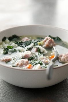 Sausage, white bean, and kale soup is comfort in a bowl
