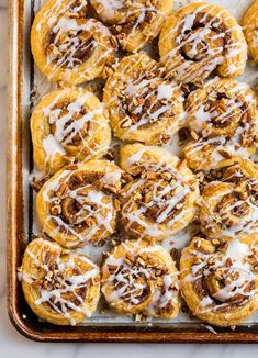 With these easy Puff Pastry Cinnamon Rolls, you can enjoy the delicious flavors of cinnamon rolls without the work! They're full of simple ingredients, and it's easy to learn how to make them!
