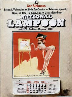 National Lampoon Magazine, Gahan Wilson, James Bond Books, Girl Spanked, American Humor, What Men Want, National Lampoons, Vintage Magazines, Comic Covers