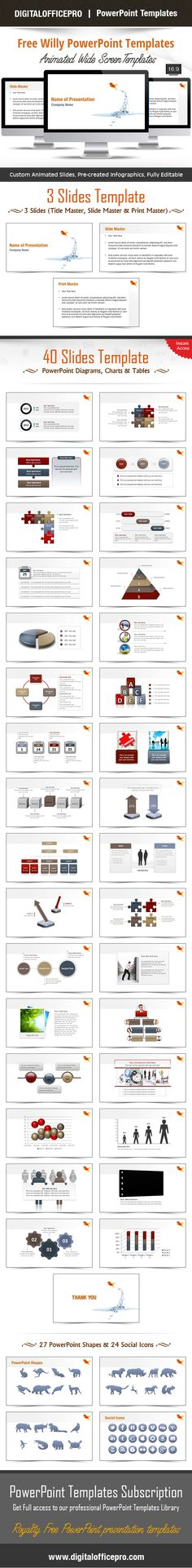 Communication Network PowerPoint Template Backgrounds