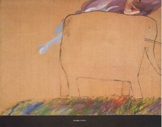 "David Hockney Book Print ""Cruel Elephant"" with Nude Rider Crawling Insects 