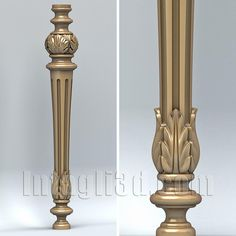 3D model for CNC routers and 3D printers (art. Baluster 006)