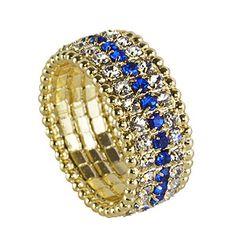 Anel folheado a ouro inteiramente rodeado c/ pedras de strass http://www.imagemfolheados.com.br/?a=3434