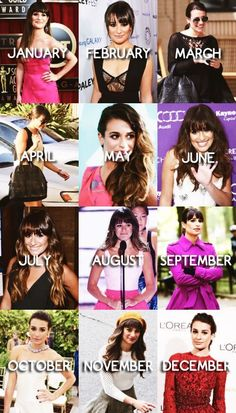 2013: A Year with Lea Michele ❤️⭐️this is kind of sad, it looks like she stopped smiling when Cory died..