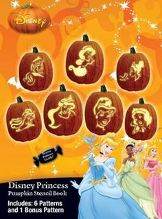 princess stencils for carving pumpkins!
