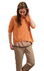 American Vintage Papaya Tissue Weight Sweater! {$110}