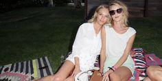 Kate Bosworth and Rosie Huntington-Whiteley in Coach   - HarpersBAZAAR.com