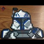 Here's A Commission I Did For A Friend, Captain Rex From The Clone Wars. Sprite Was Design From Scratch By Me, I Used The Storm Trooper I Made As A Base. #pixelxpixel #pixelbypixel #perlerbeadcreations #perlerbeads #perler #hama #hamabeads #beadsprites #sprite #movies #starwars #clonetrooper #clonewars #captainrex #rex #clones #custom #customdesign #pixelart #pixelbypixeloriginal